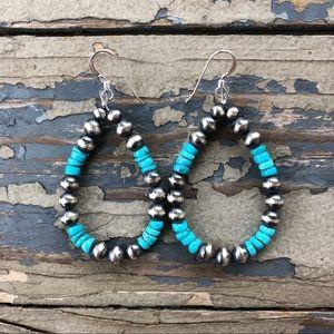 Blue Kingman Turquoise & Desert Pearl Loops